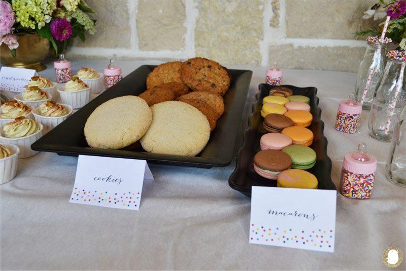 cookies and macarons