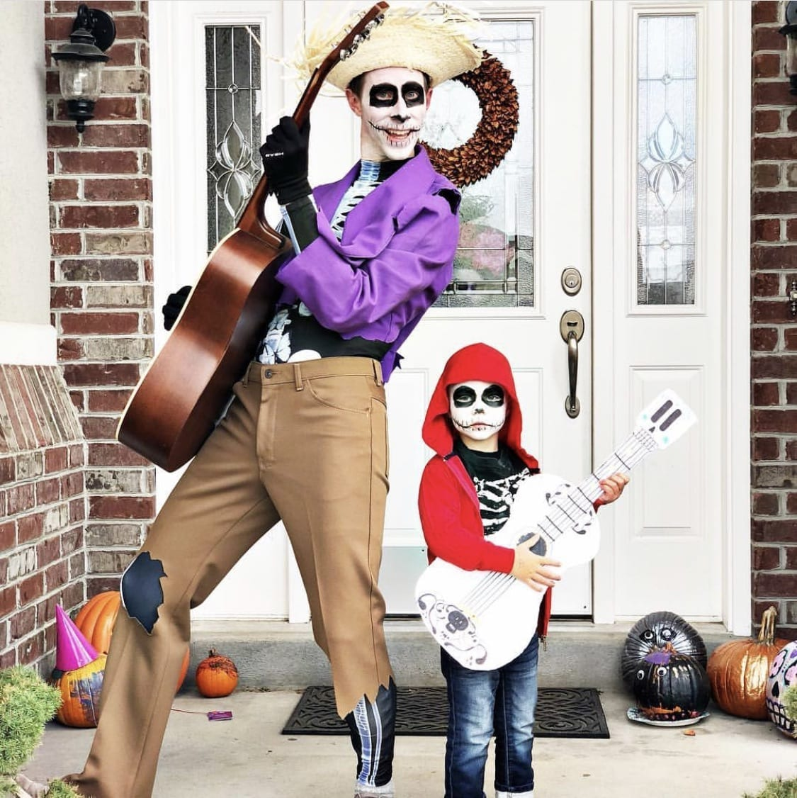Family dressed up as the characters from Coco for Halloween.