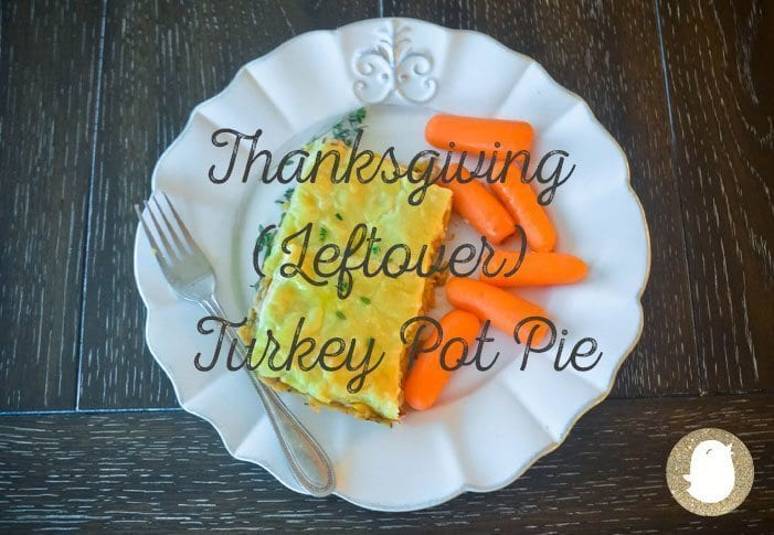 Turkey pot pie on a plate