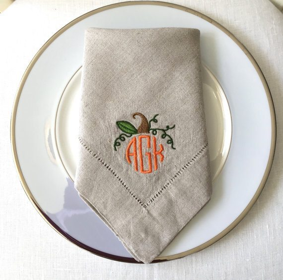 monogramed napkins