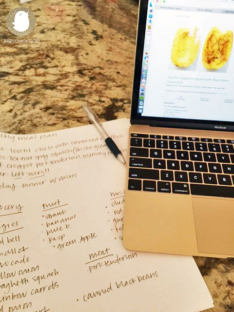 Making life a little easier with a weekly meal plan and grocery list. Notice Left-over night? We always include a couple meals that can be frozen or eaten again in the event that I'm too tired to whip up a dish!