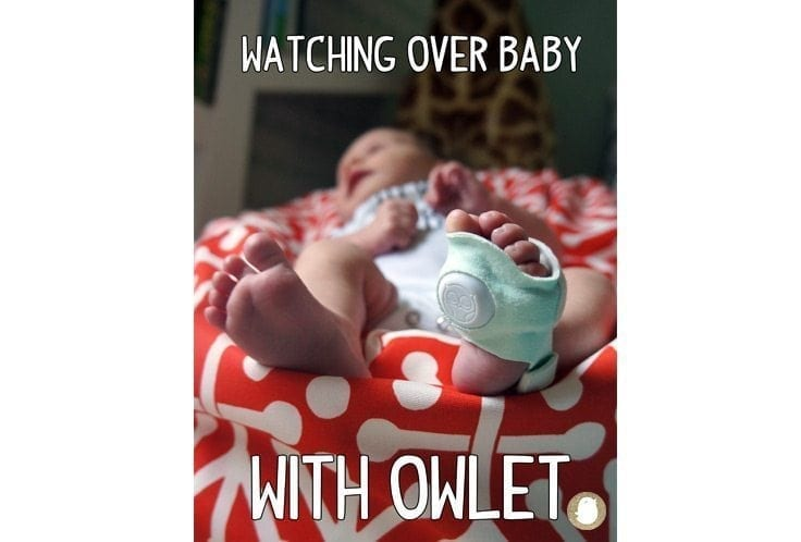 watching over baby with owlet