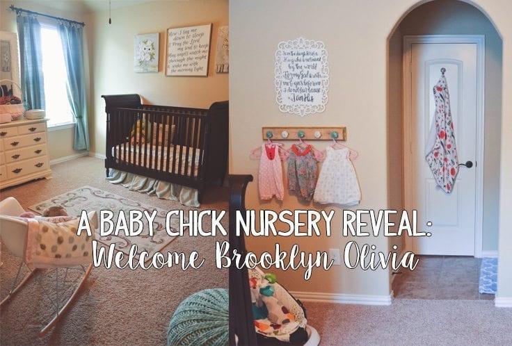 nursery reveal, brooklyn olivia, baby chick