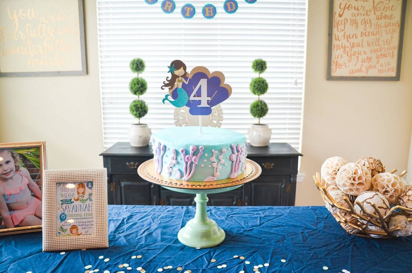 A Chic(k) Celebration: Savannah's Mermaid Princess Birthday | Baby Chick