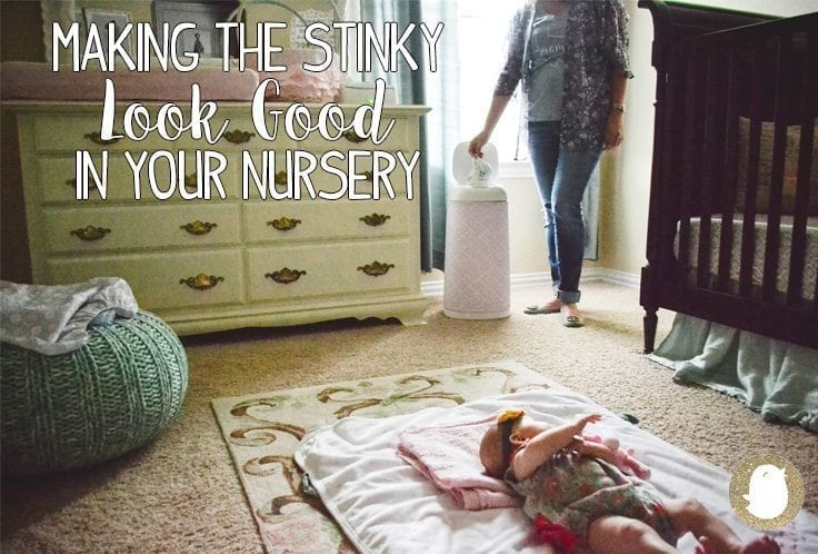 diaper pail, parenting is gross, nursery decor, baby chick