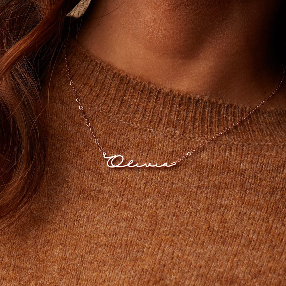 Minimalist Name Necklace by CaitlynMinimalist in Sterling Silver