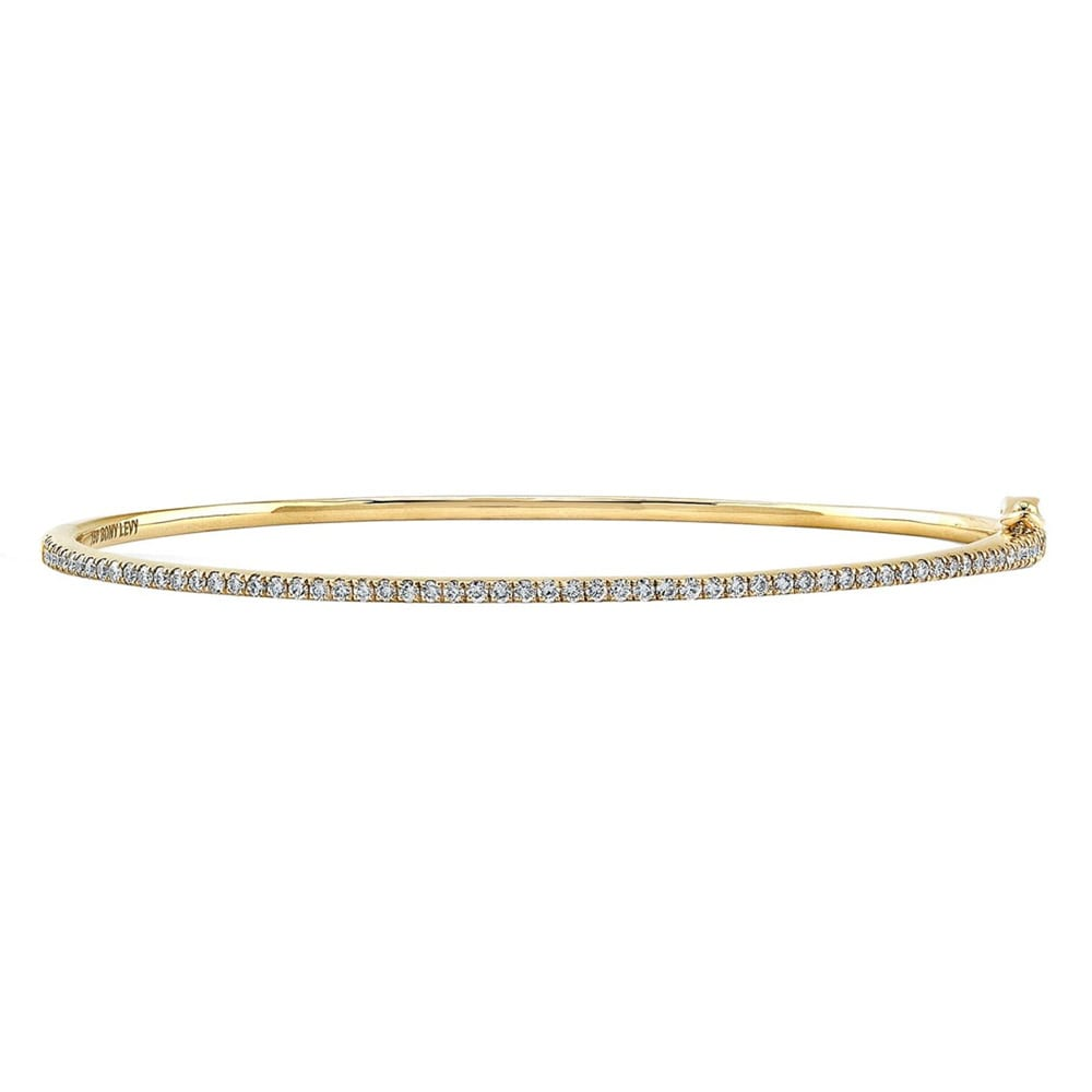 Skinny Stackable Diamond Bangle BONY LEVY