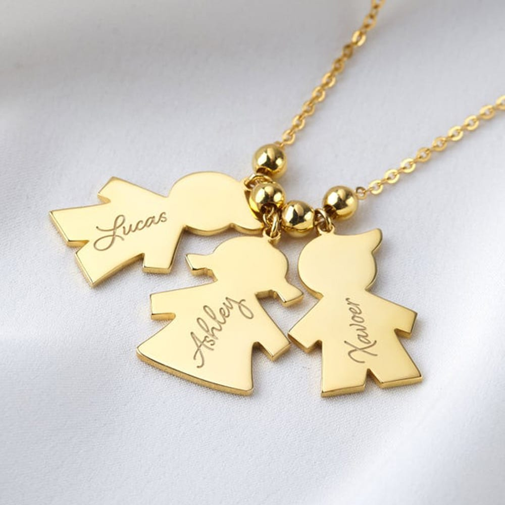 Kids Names Necklace for Mom