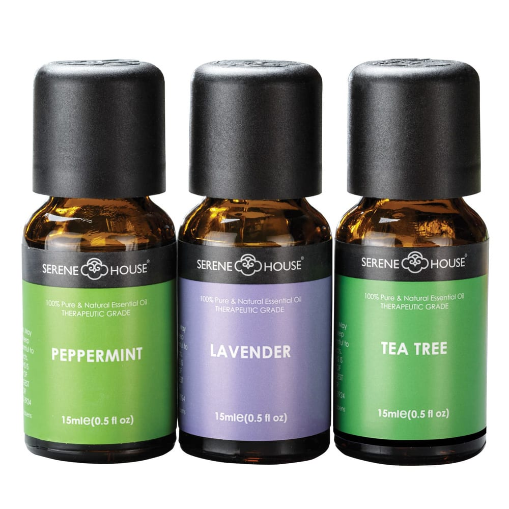 Pure & Natural 3-Pack Essential Oils SERENE HOUSE