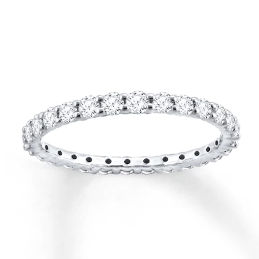 Diamond Eternity Ring 1 ct tw Round-cut 14K White Gold