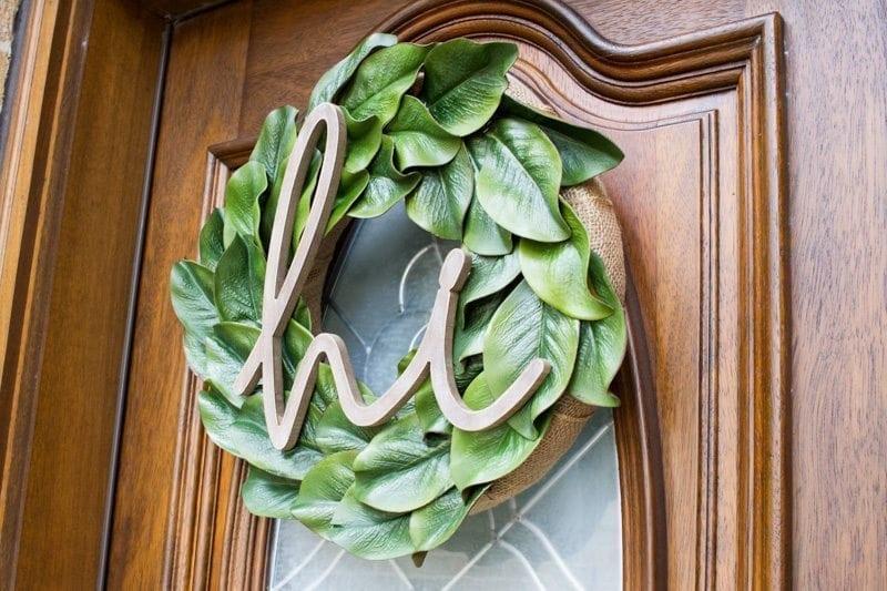 baby chick, cheyenne, magnolia wreath, diy