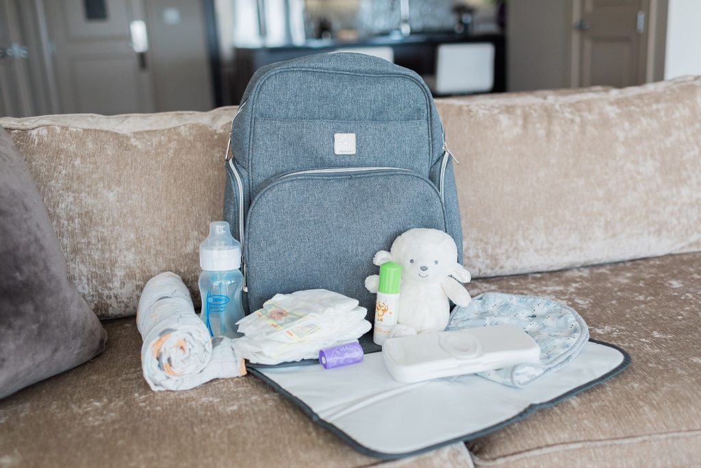 taking care of baby, helping mom out, diaper bag backpack, successful day with baby