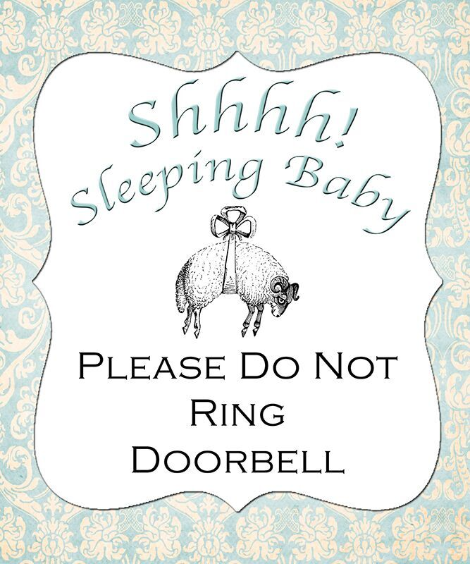 sleeping baby, sign, DIY, baby chick