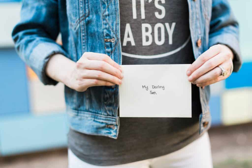 it's a boy, gender reveal, a letter to my unborn baby