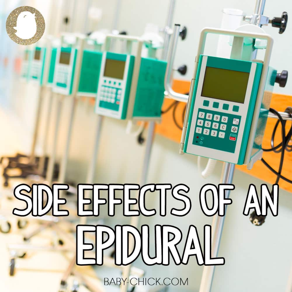 side effects of an epidural
