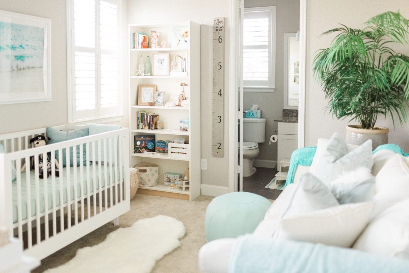 Nursery Reveal: Ocean Inspired Nursery Design | Baby Chick