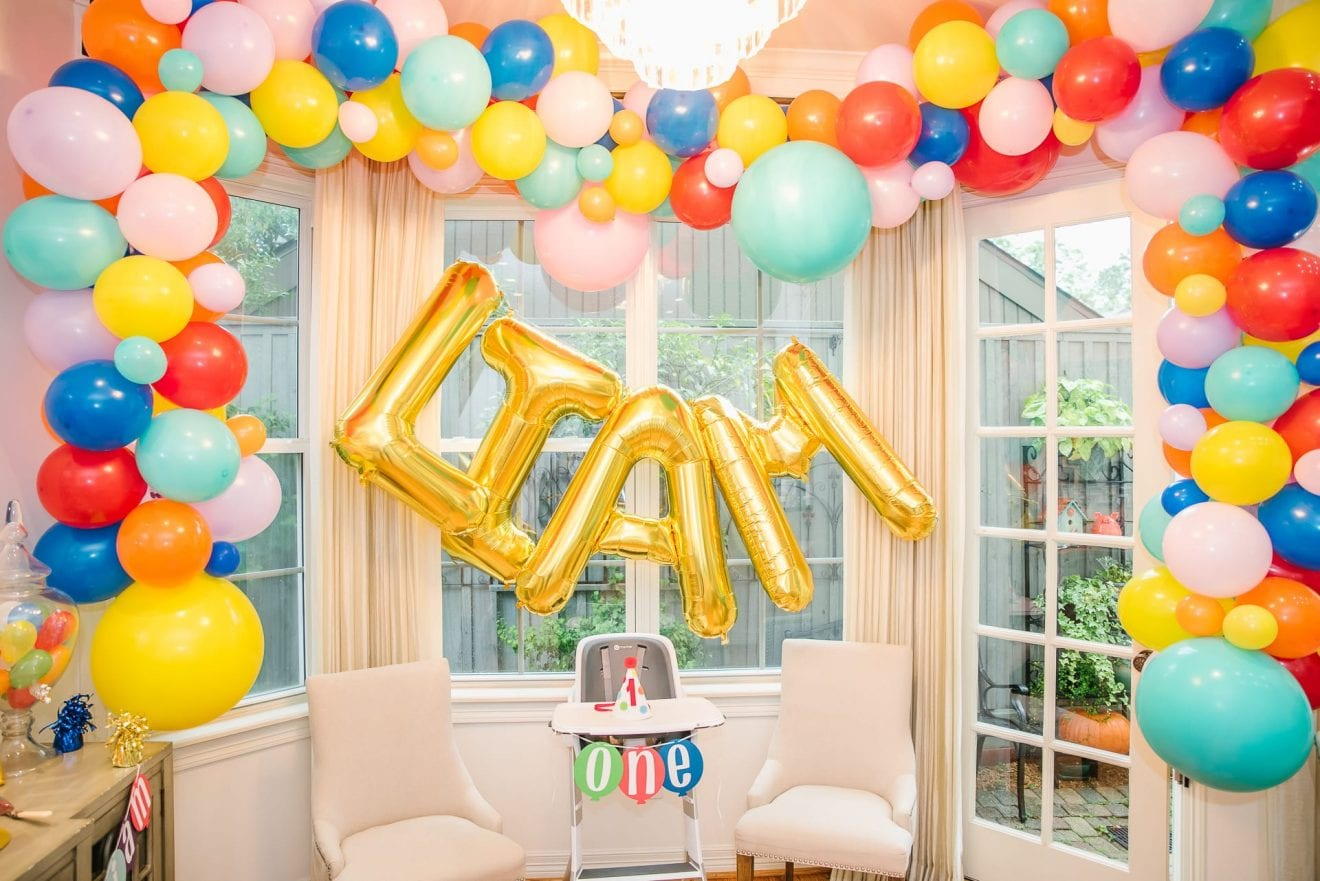 Balloon Themed Birthday Party | Baby Chick