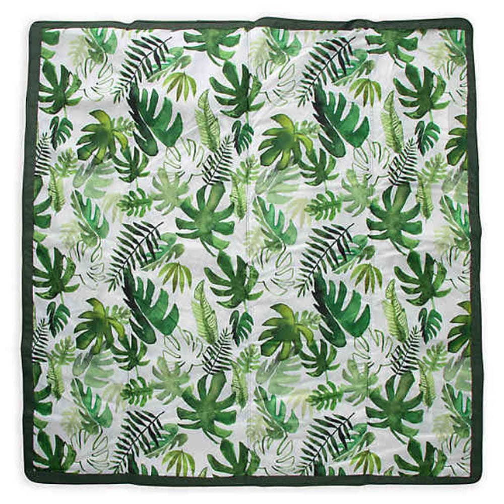 Little Unicorn 5' x 5' Tropical Outdoor Blanket in Green/White