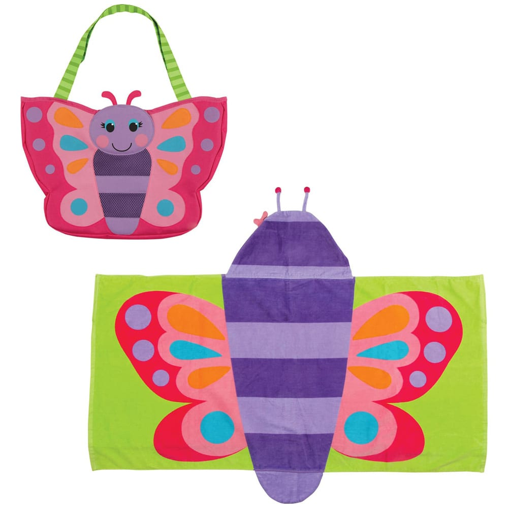 Beach Tote, Hooded Towel & Toys STEPHEN JOSEPH
