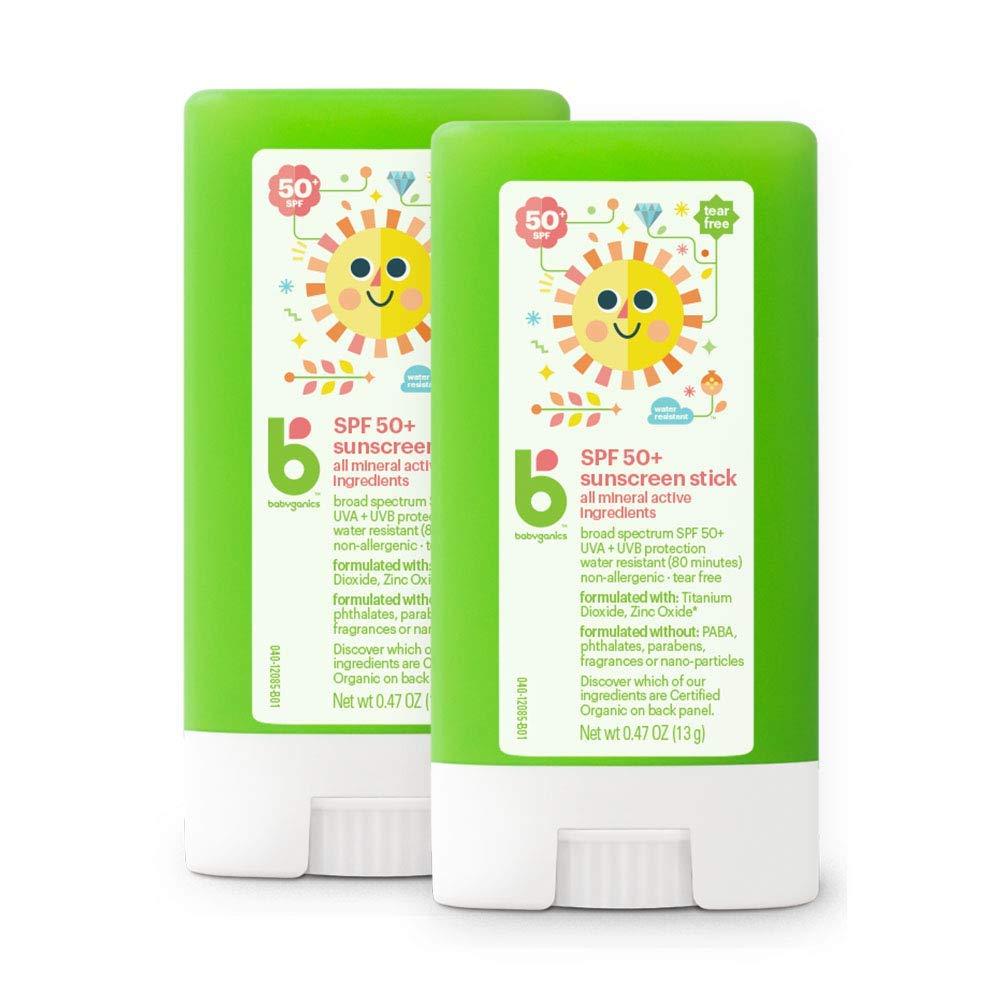 Babyganics Sunscreen Stick 50 SPF, .47oz, 2 Pack