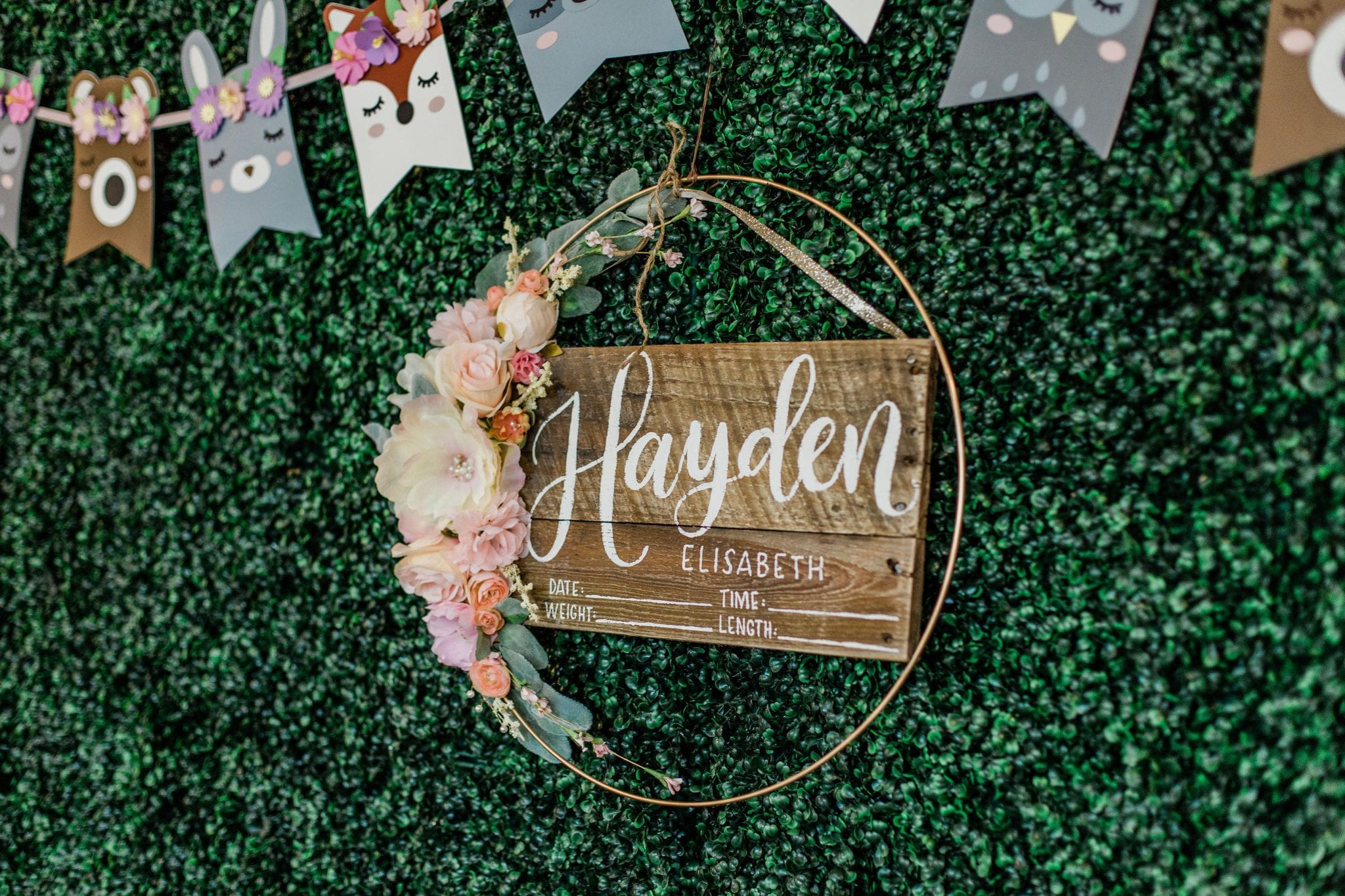 Woodland Theme Baby Shower | Baby Chick