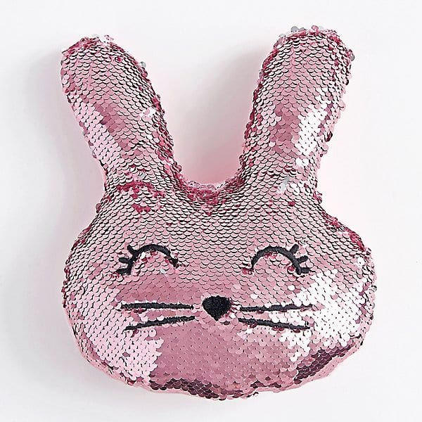 Sequin bunny pillow