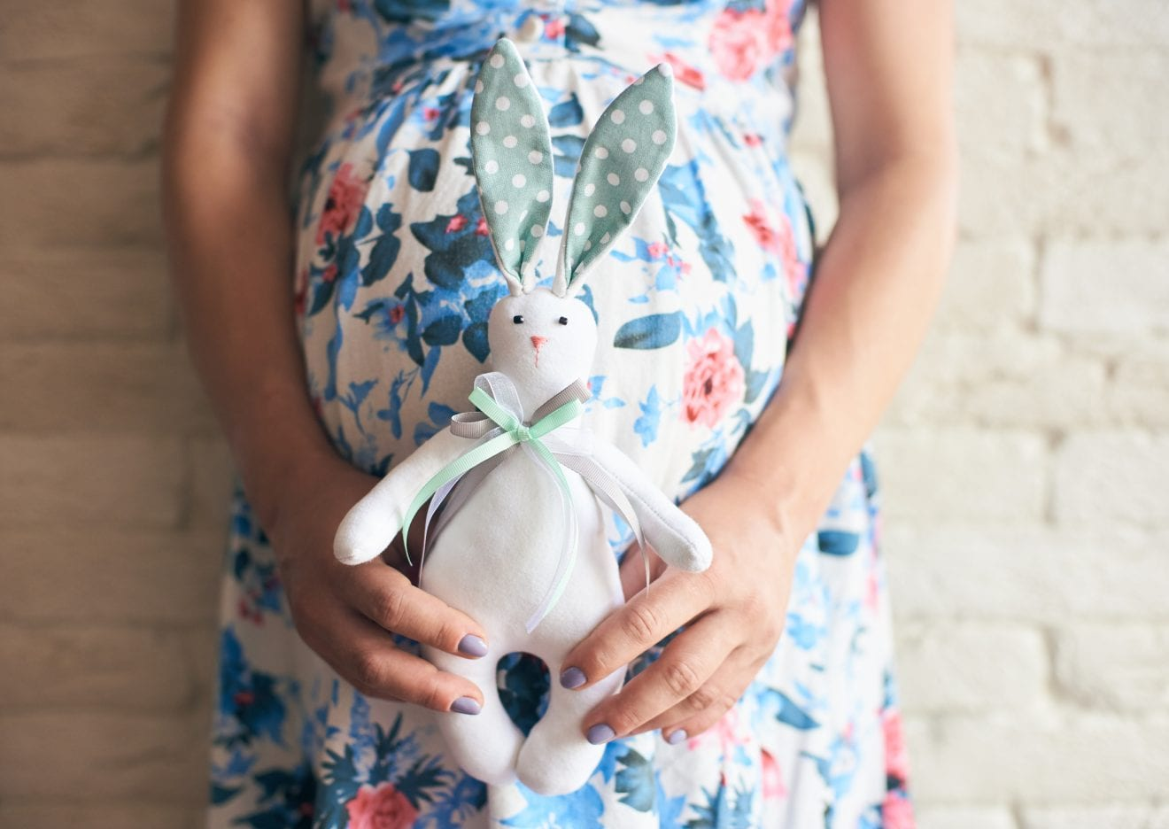 Pregnant lady kepping cute and anticipating little boy