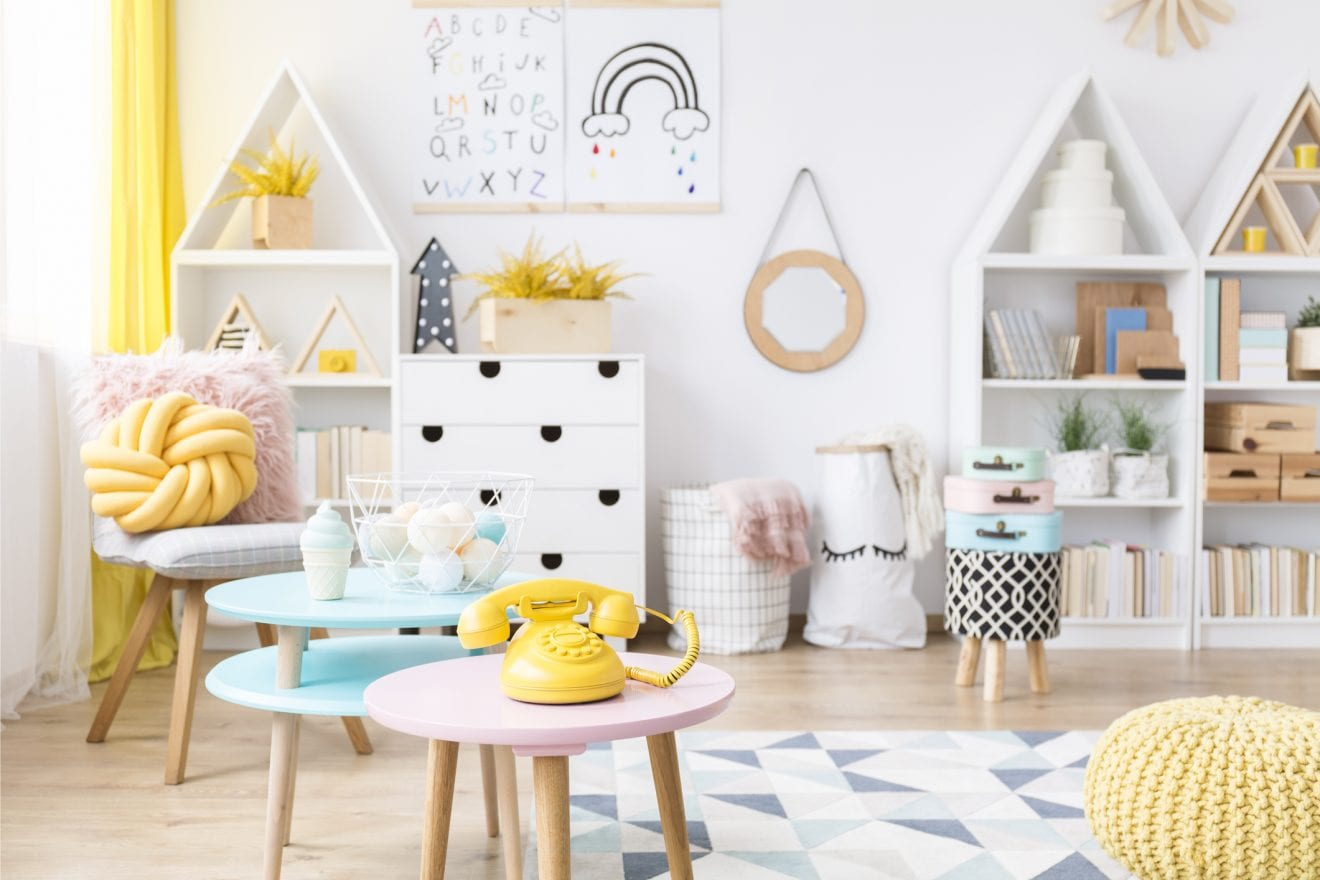 Scandi child's playroom interior