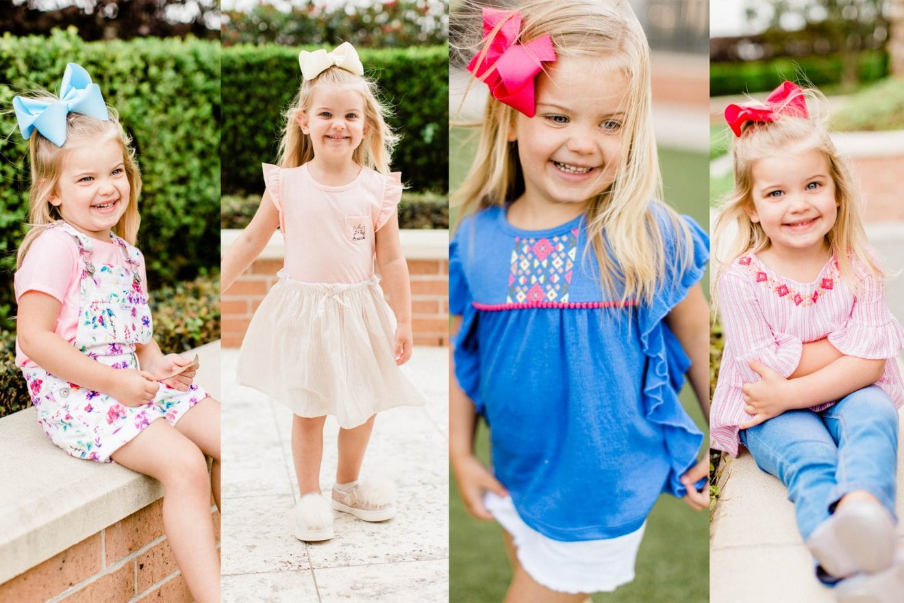 Little girl wearing cute clothes from Walmart | We Dress America