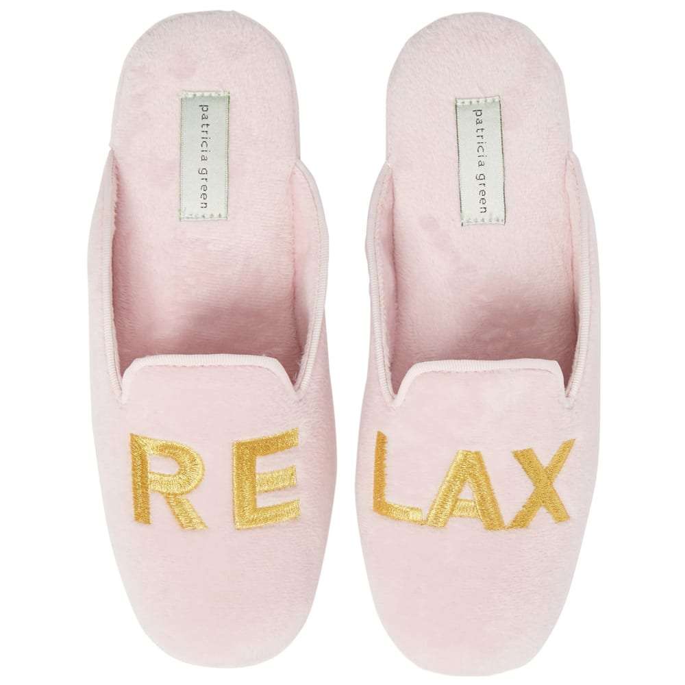 Relax Embroidered Mule Slipper PATRICIA GREEN