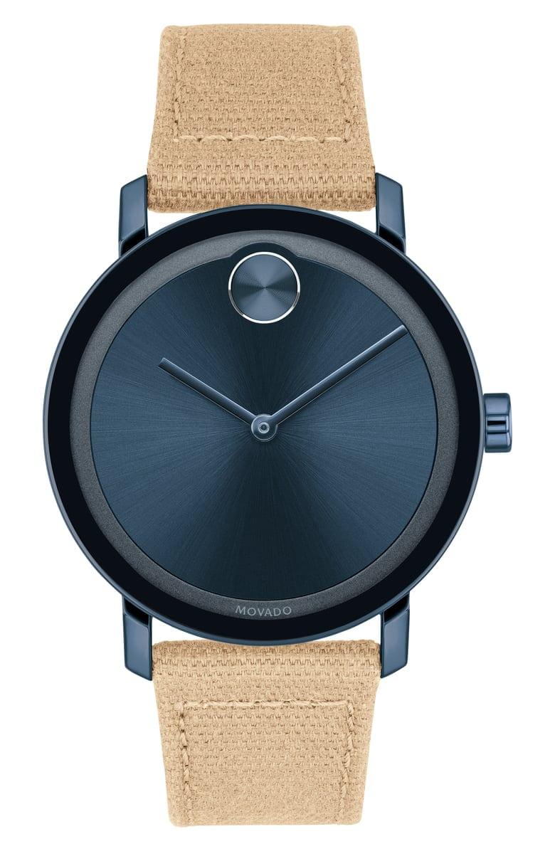 Movado Canvas Strap Watch