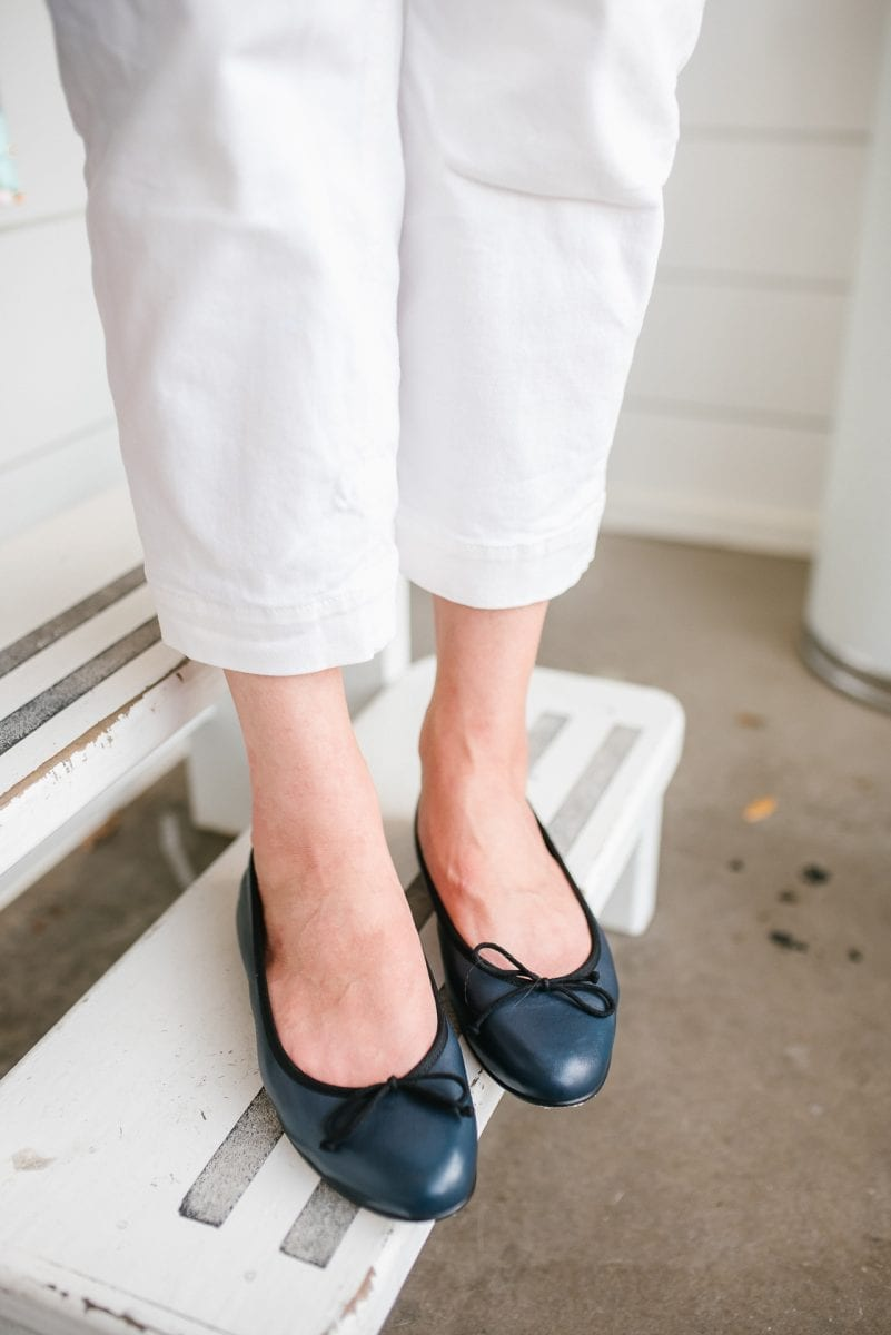 Margaux slip on navy flats