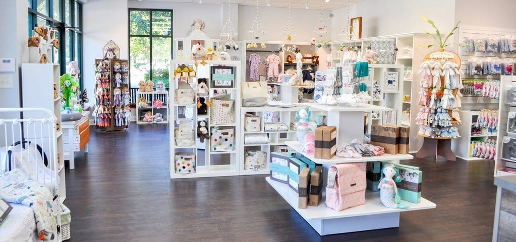 Baby boutique filled with baby products