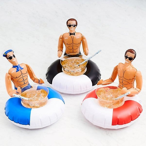 Inflatable Hunk Drink Floats