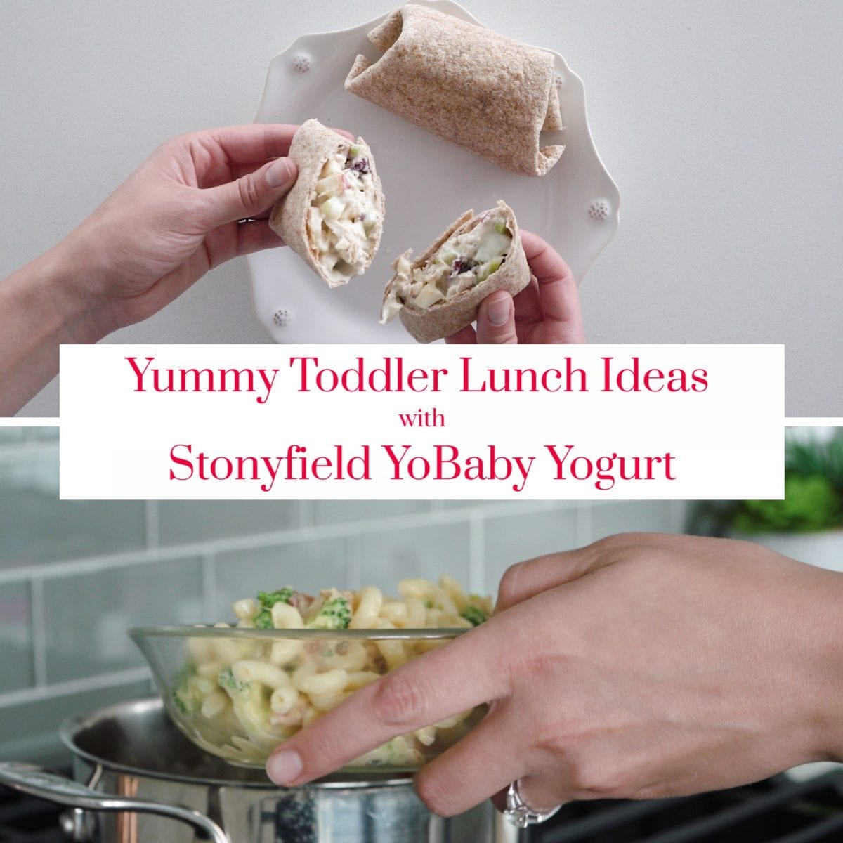 Two lunch recipes made with Stonyfield YoBaby yogurt