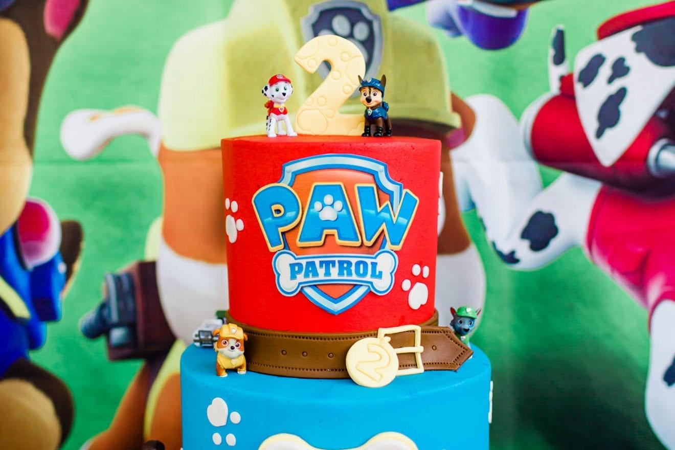 Paw Patrol Birthday Cake for a 2 year old.