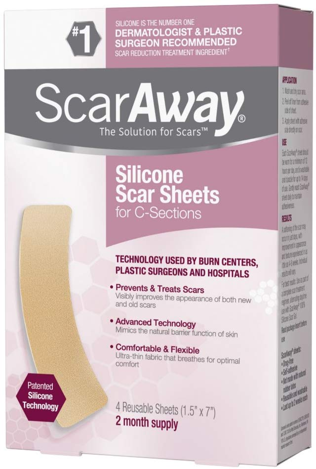ScarAway Silicone Scar Sheets for C-Sections