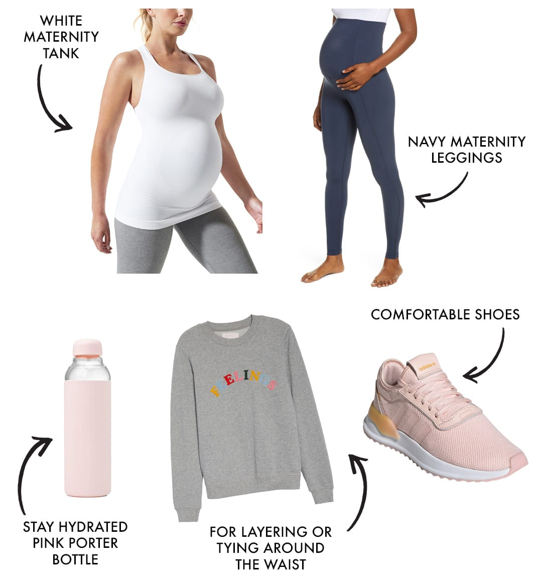 mom workout clothes and athleisure style look 1