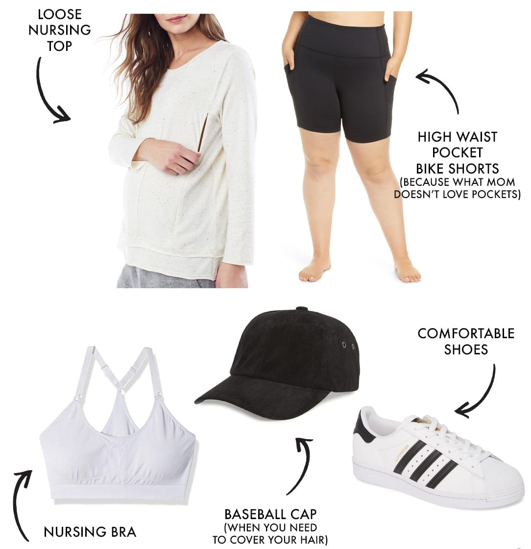 mom workout clothes and athleisure style look 5