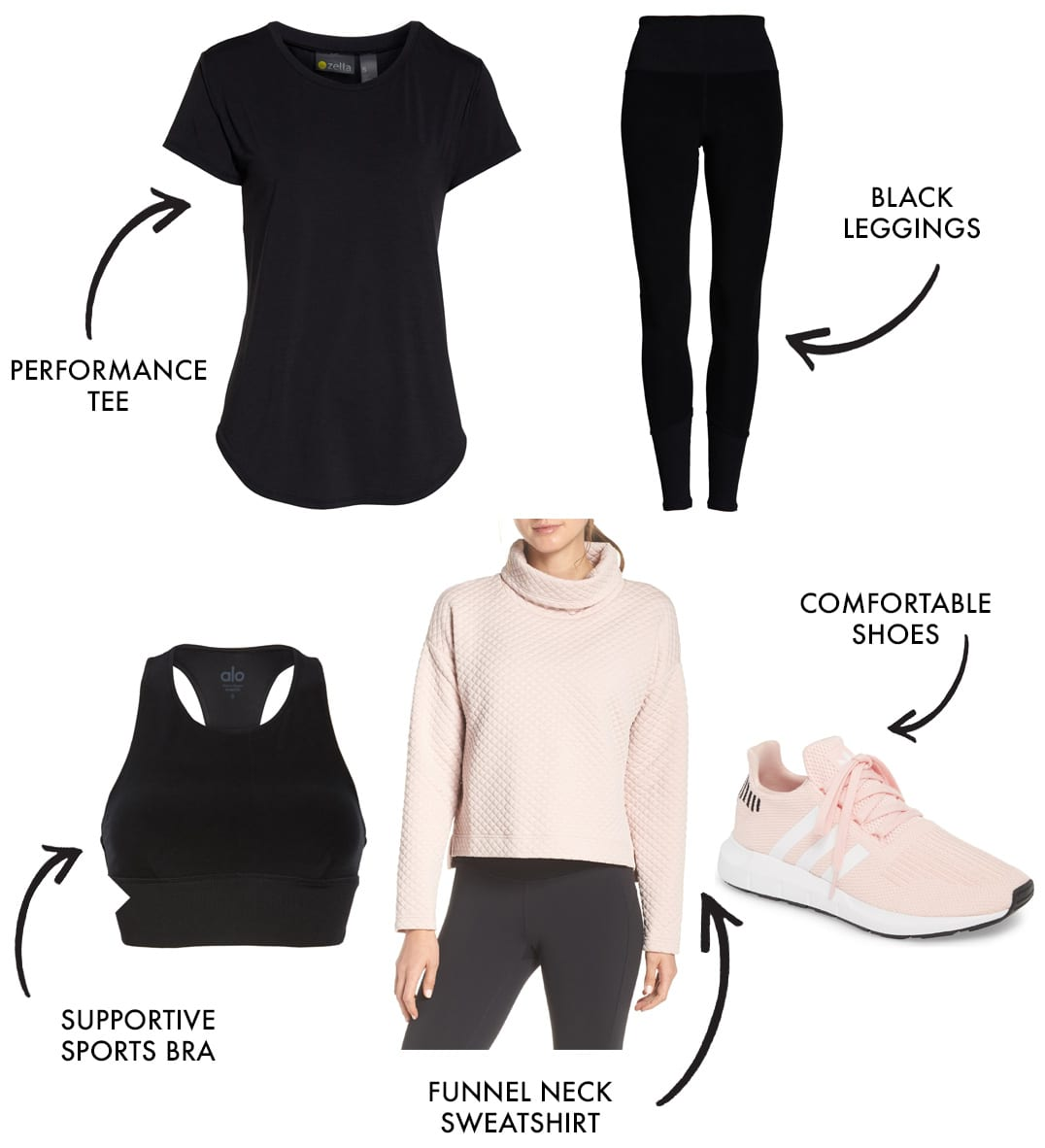 mom workout clothes and athleisure style look 6