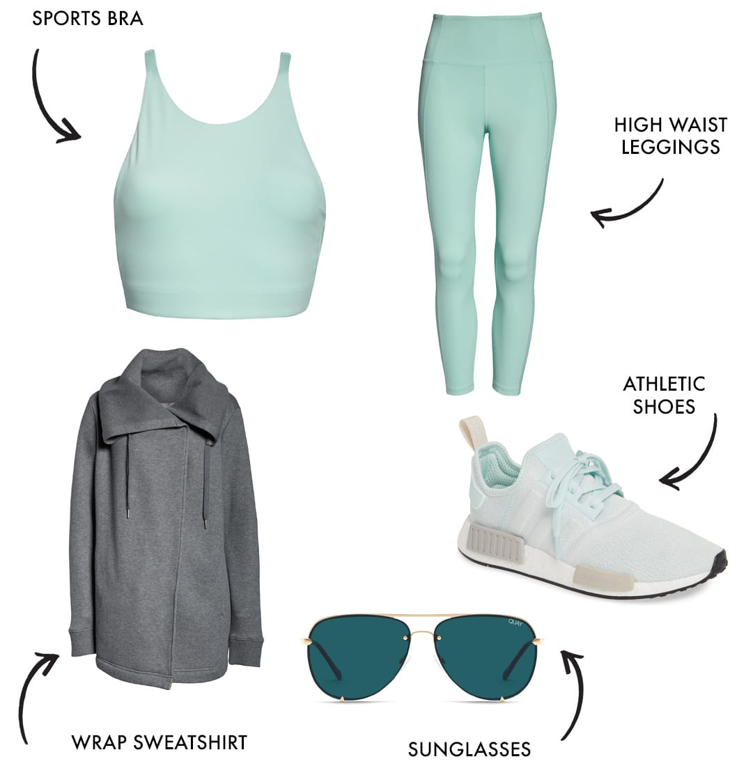mom workout clothes and athleisure style look 9