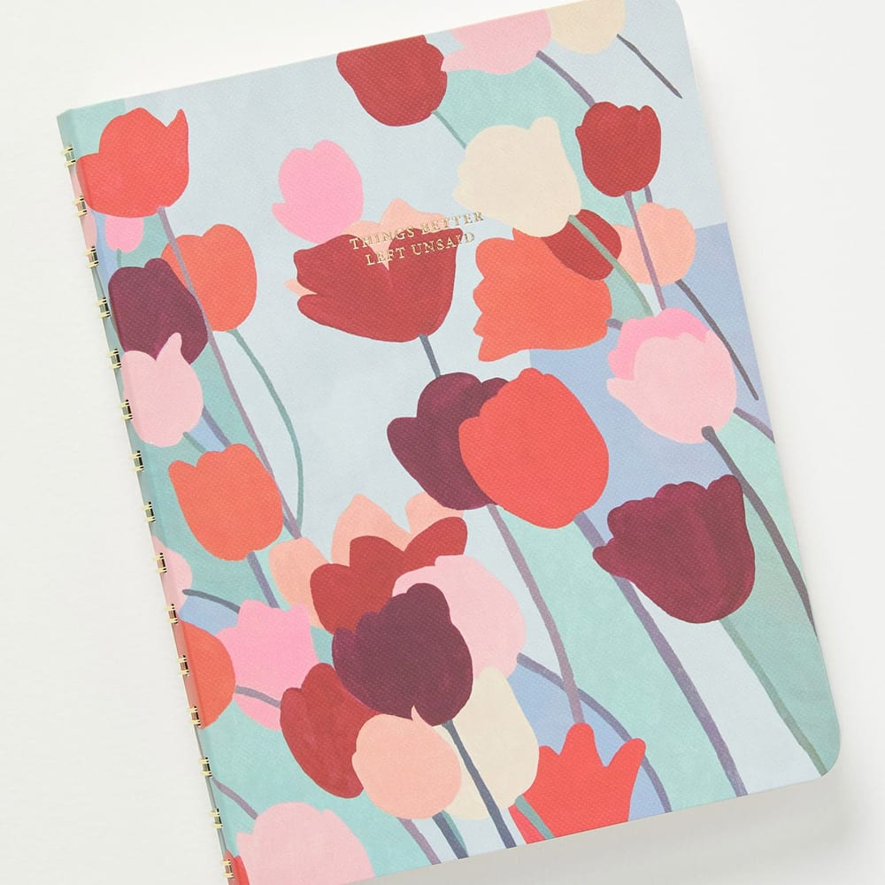 """ANTHROPOLOGIE HOME Boheme Journal, Main, color, MULTI DETAILS & CARE Journal your dreams or do some dreamy doodling in this tulip-print spiral-bound journal featuring both lined and unlined pages. 6"""" x 7 3/4"""" 192 pages Paper/metal Imported Item #5998665 Free Shipping & Returns See more Boheme Journal ANTHROPOLOGIE HOME"""