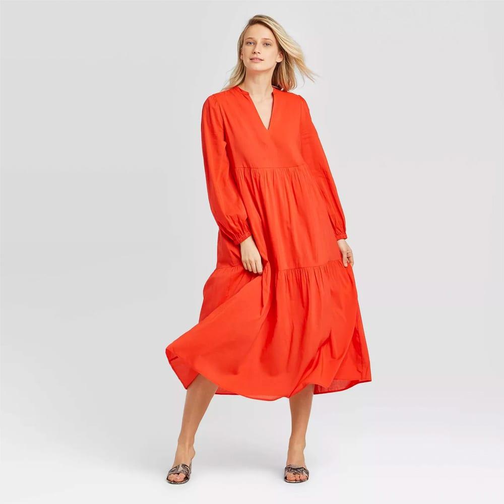 Women's Long Sleeve Tiered Flowy Dress - Who What Wear™