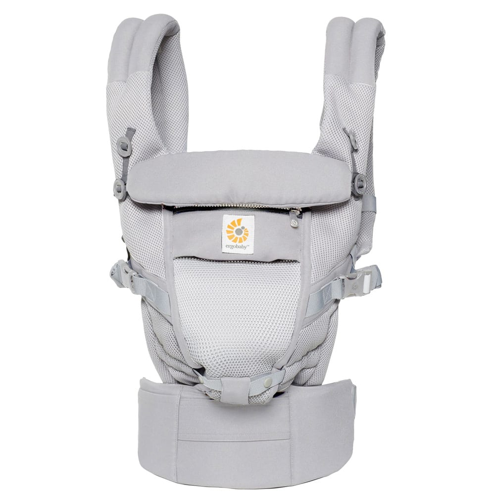 ERGOBABY Three Position ADAPT Baby Carrier, Main, color, PEARL GREY DETAILS & CARE ERGObaby's signature comfort and ergonomic fit make the Adapt carrier a perfect choice as your little one grows from a newborn to a toddler. The updated design eliminates the need for infant inserts, while still offering the versatility of front-inward, hip and back carry positions. Crossover shoulder straps and a lumbar-support waist belt ensure comfortable wear for parents even during extended outings. Carries infants from 7 to 45 lb. Padded, adjustable shoulder straps with crisscross option Adjustable lumbar-support waist belt UPF 50+ tuck-away baby hood for sun protection and nursing privacy Cushioned, foldable head and neck support Ergonomic bucket seat adjusts to growing babies from newborn to toddler 100% cotton Machine wash, tumble dry Imported Kids' Wear Item #5419479_1 Free Shipping & Returns See more (38) Three Position ADAPT Baby Carrier ERGOBABY