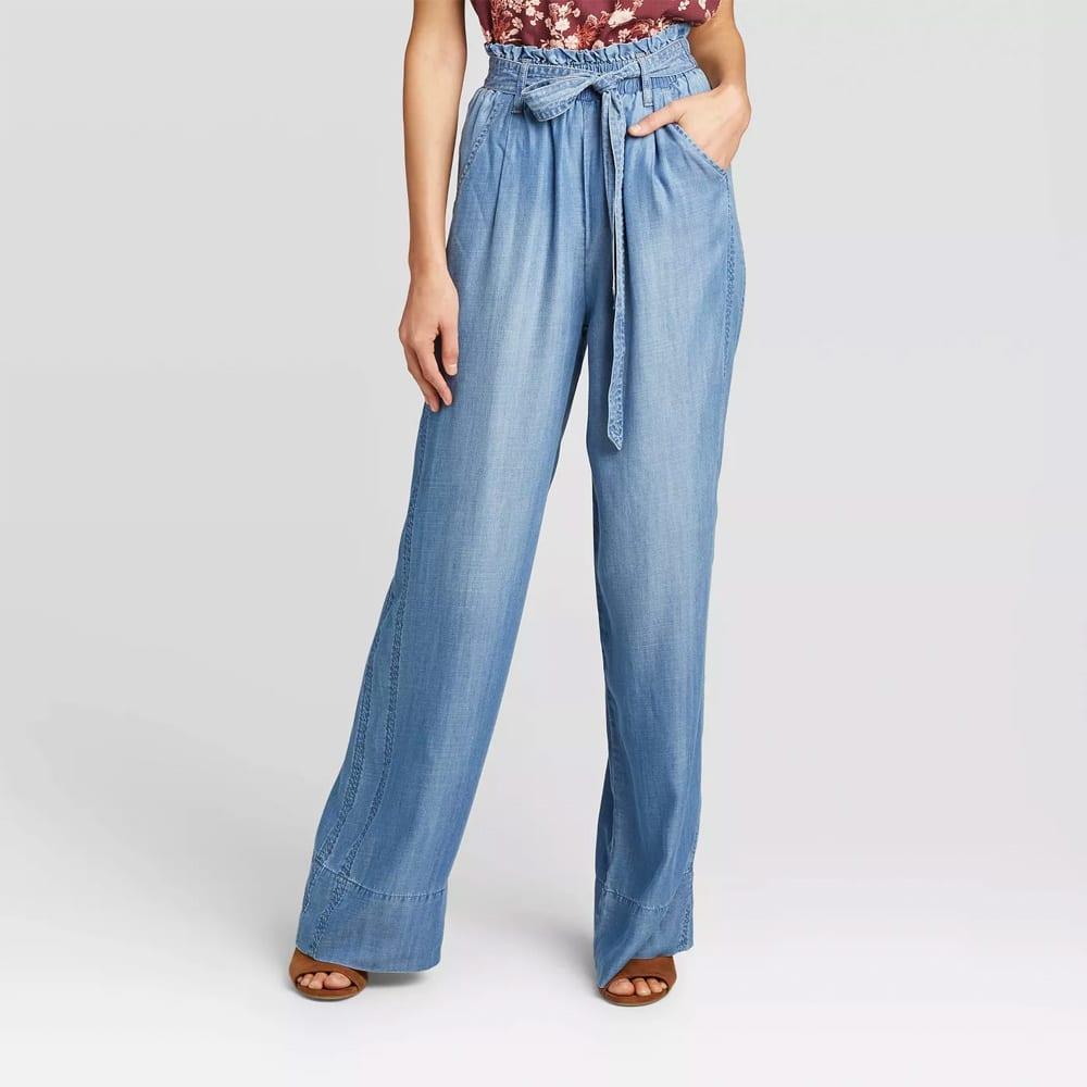 Women's Mid-Rise Flare Pants - Knox Rose™ Blue