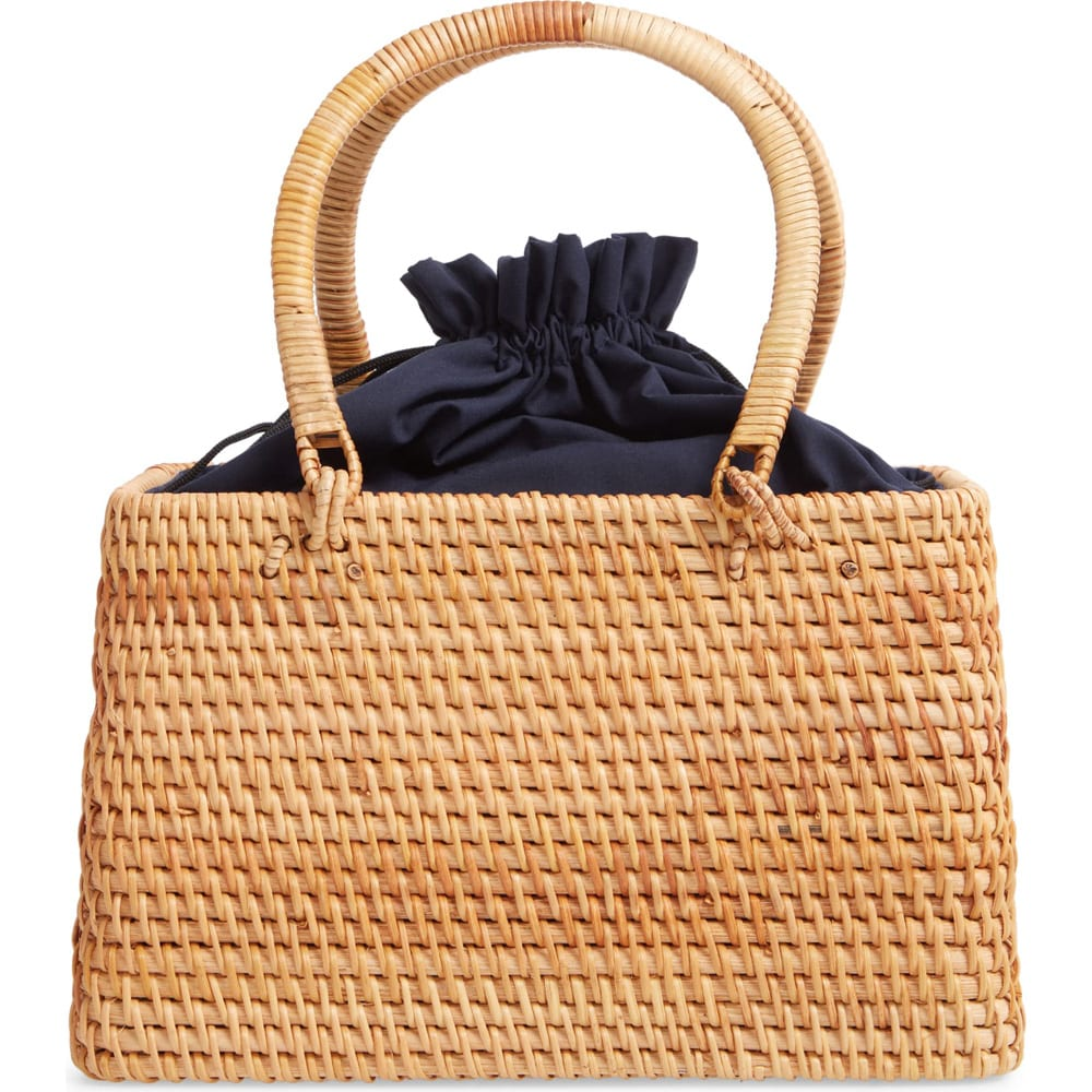 Large Rattan Top Handle Bag KNOTTY