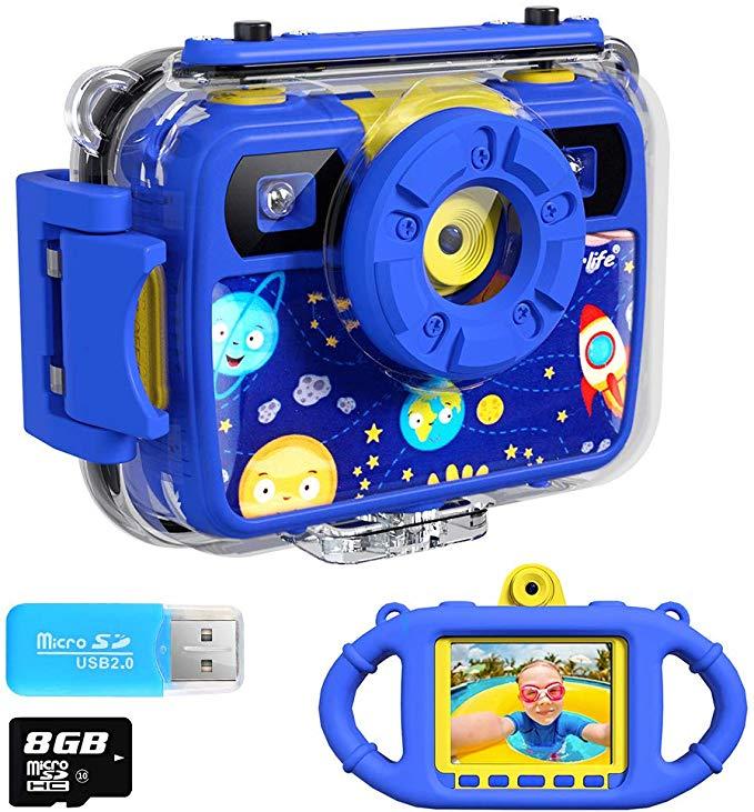 Ourlife Kids Camera, Selfie Kids Waterproof Digital Cameras for Kids