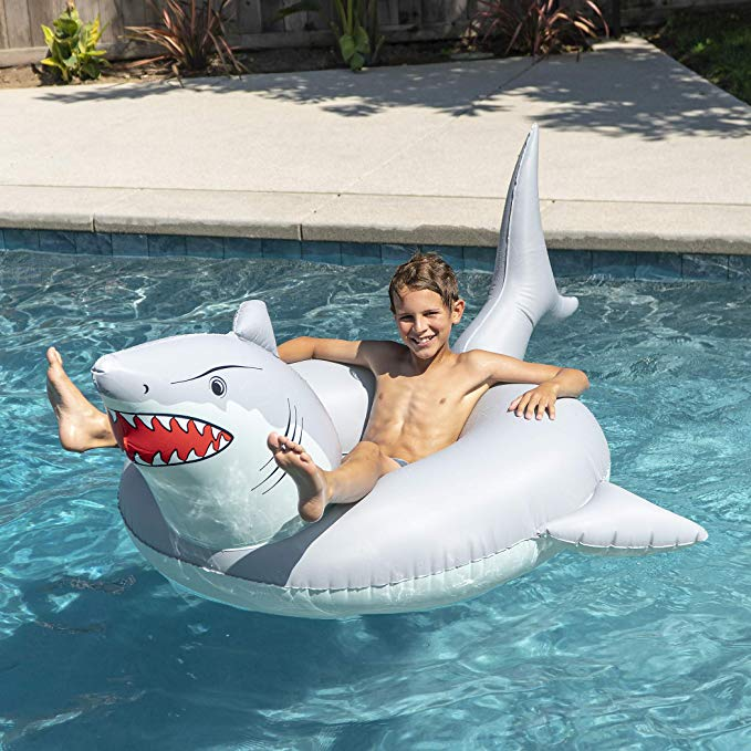 GoFloats 'Great White Bite' Shark Party Tube Inflatable Raft