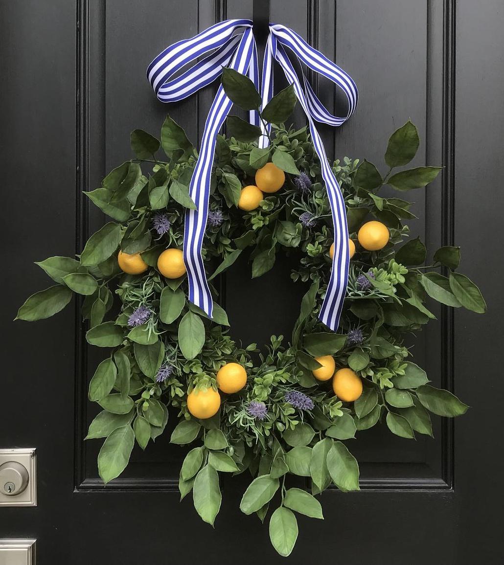 Lemon and Lavender Wreath