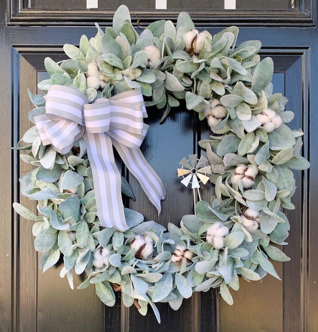 Farmhouse Wreath for Front Door
